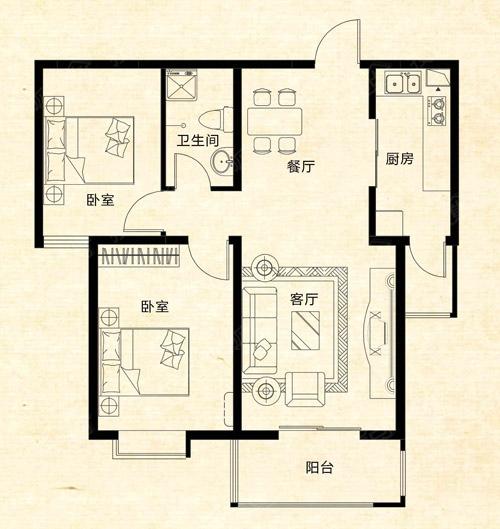 92平方两室两厅鞋柜设计图展示