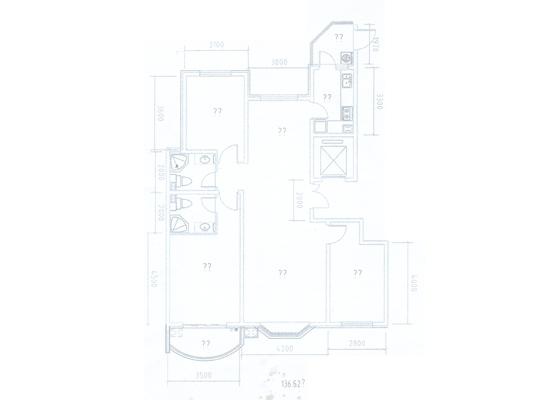 橄榄城三居室三居_橄榄城户型图-衡水搜狐焦点网