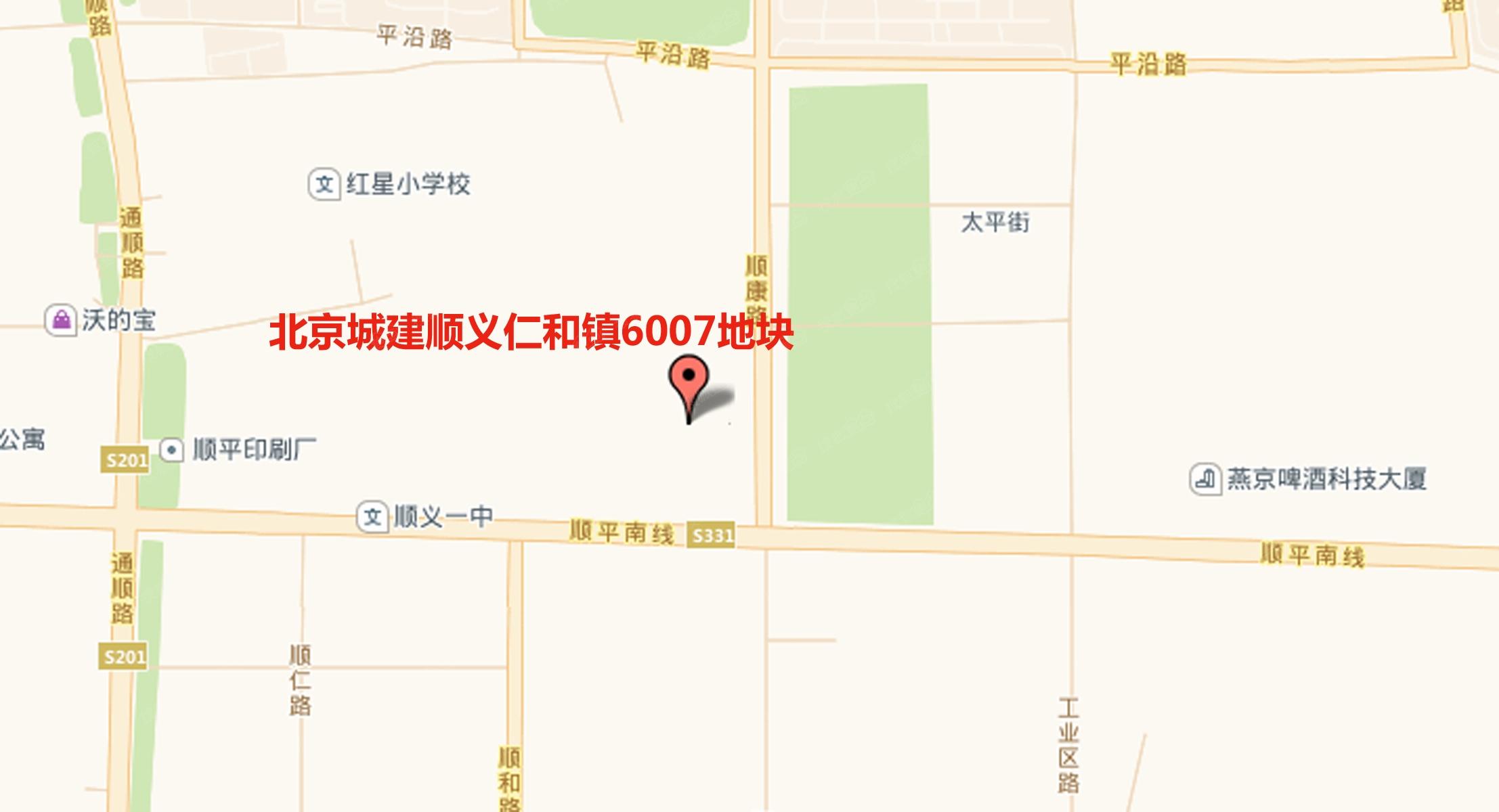 北京城建顺义仁和镇6007地块