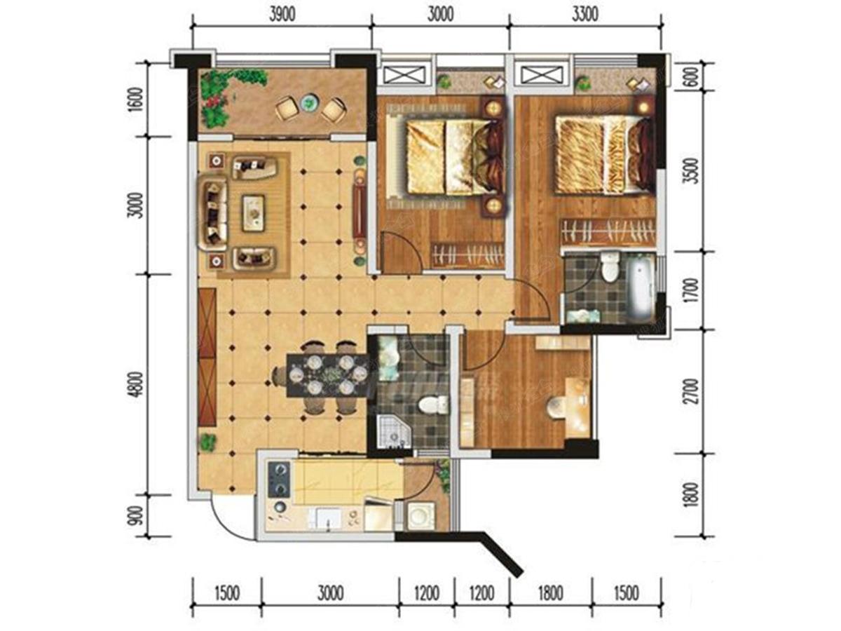 华润橡树湾三居室f3_华润橡树湾户型图-成都搜狐焦点网