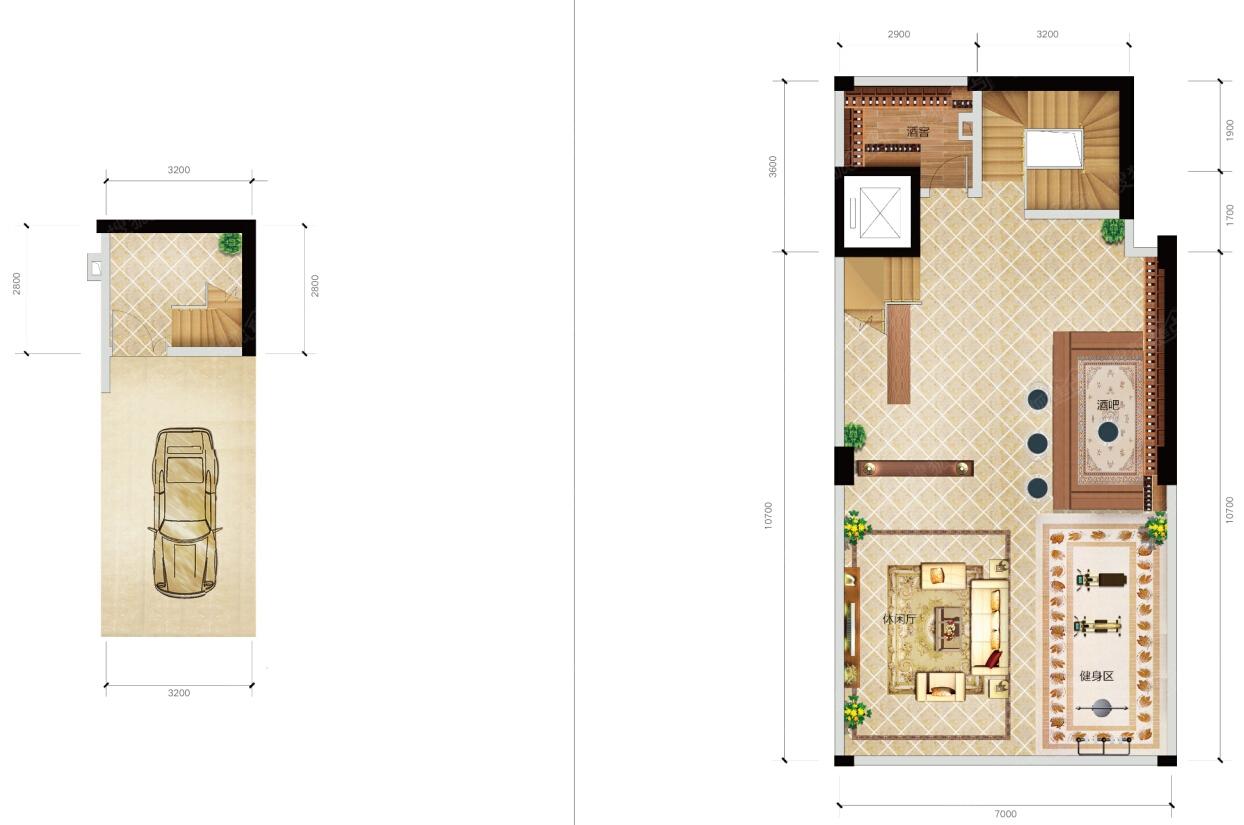 130平米两层设计图纸展示