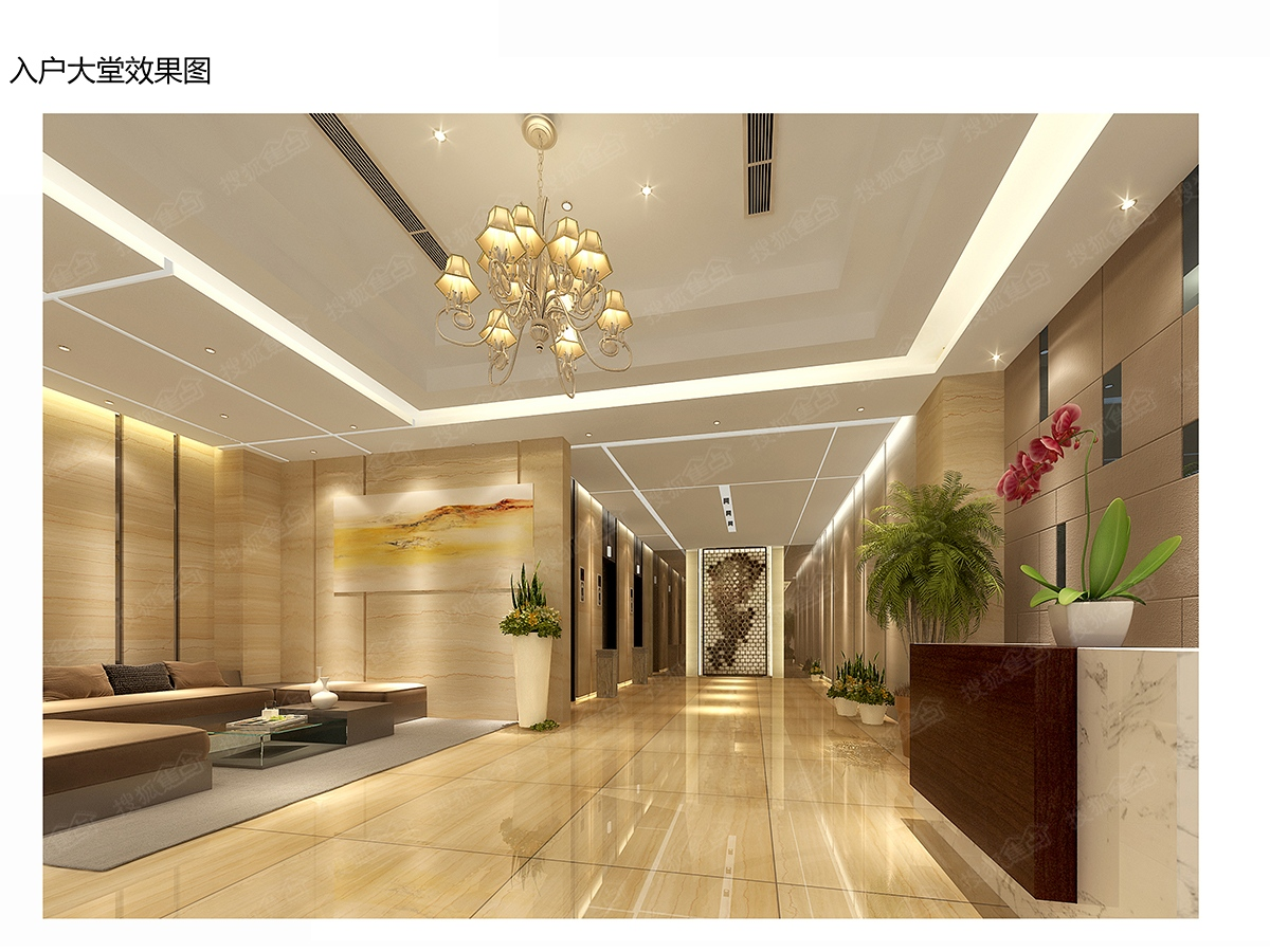 新长海广场效果图-cdef栋主入户大堂