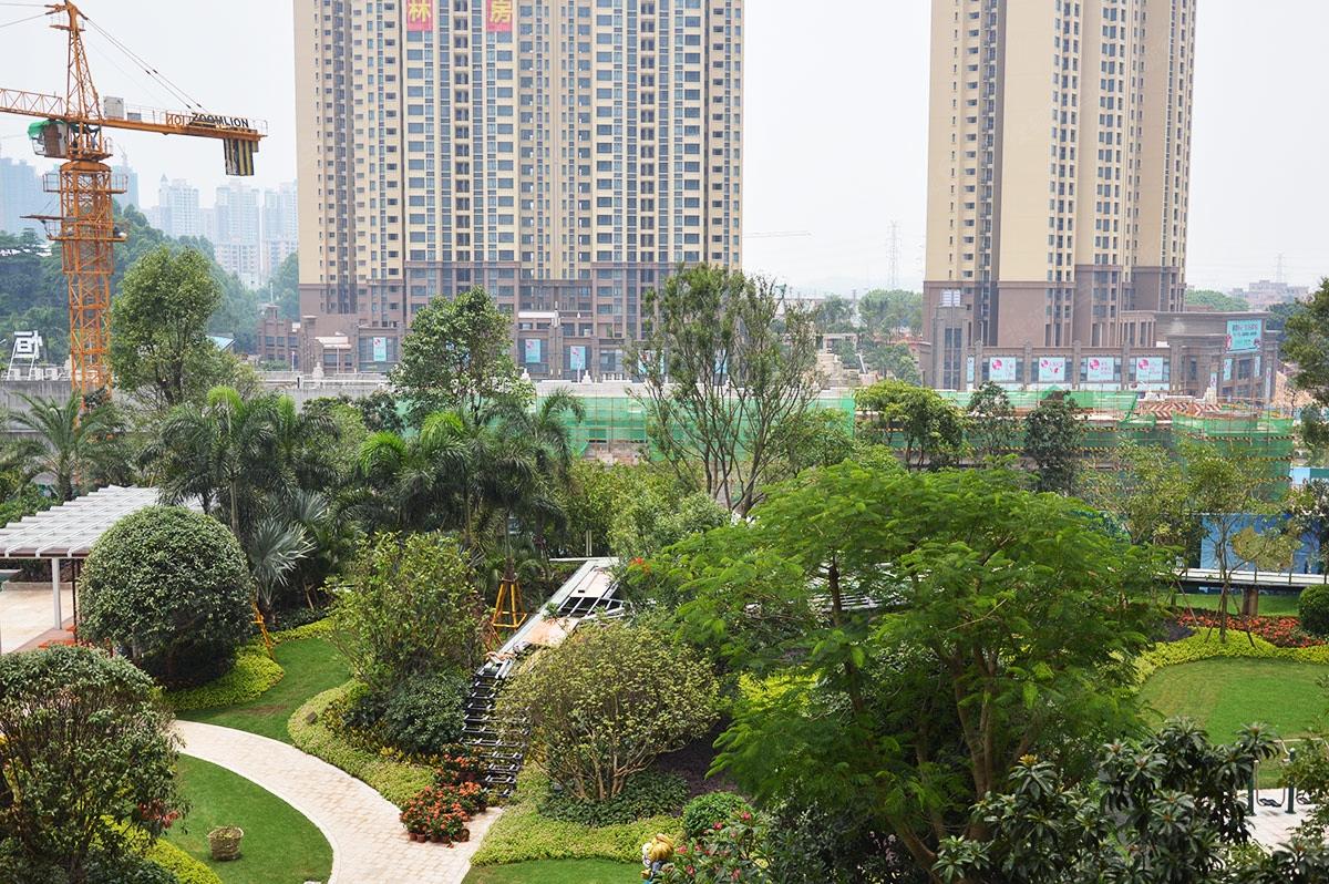 佛山恒大城小区在建园林图片