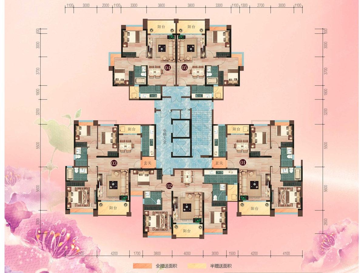 二期8座楼层平面图