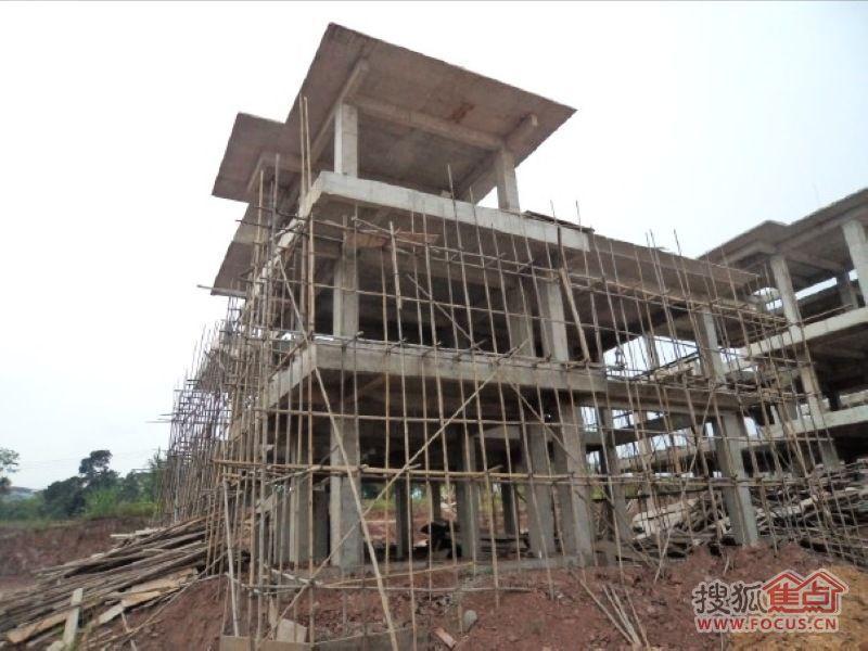 白沙福安水郡A5 别墅施工进度图 2014年11月19日