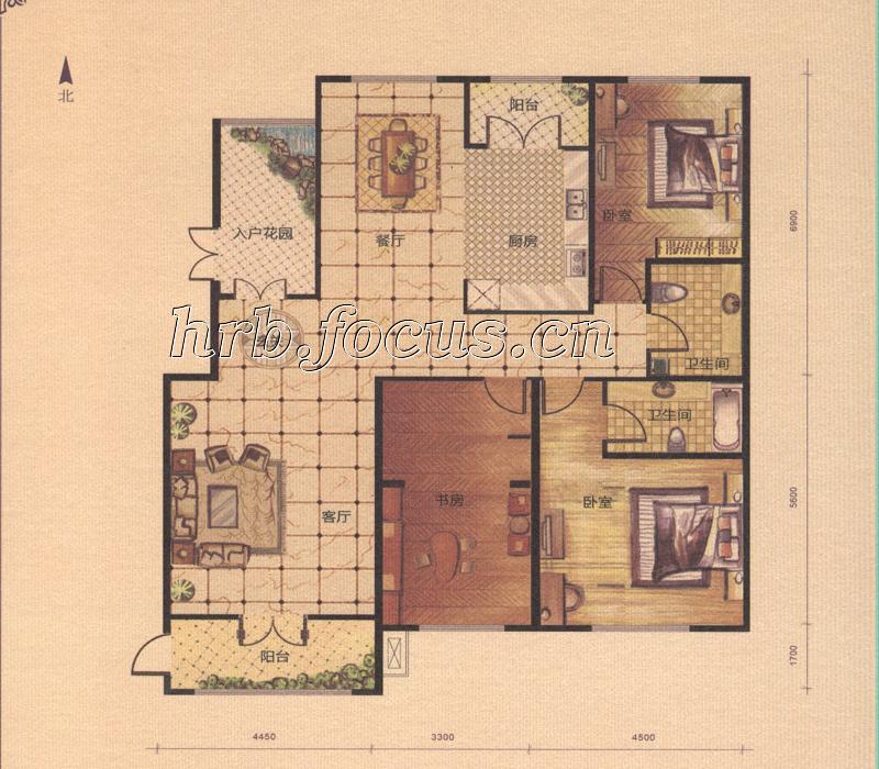 27平米院子设计图