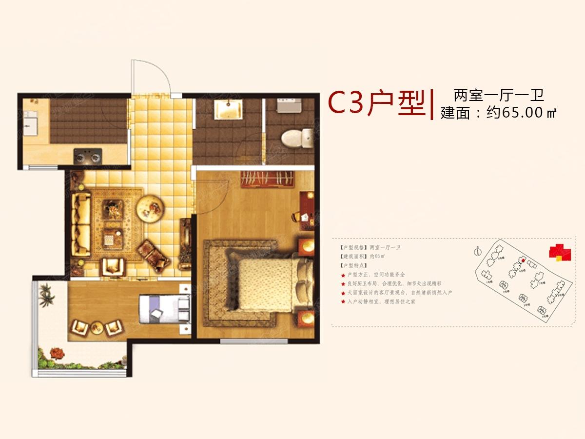 中国海南海花岛二居室a2