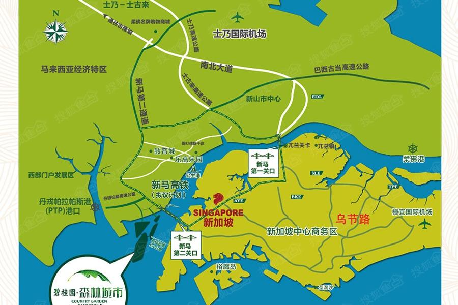 碧桂园·森林城市区位图