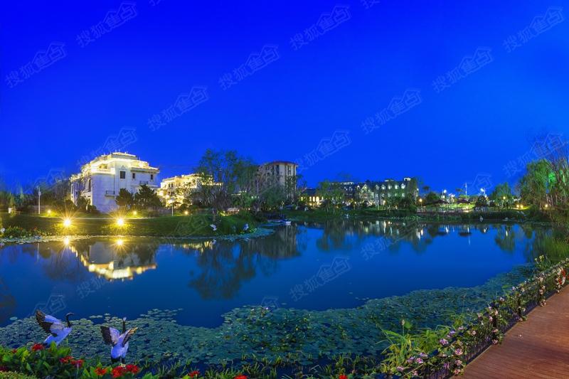 青岛碧桂园实景图之夜景观