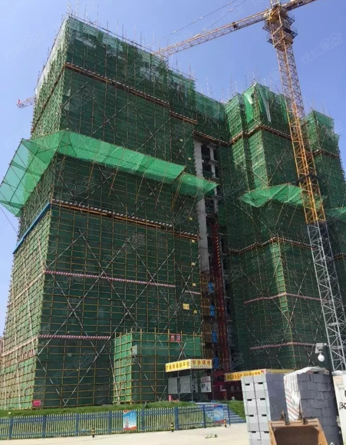 银盛泰香江学府6#楼建至11层施工进度图(2016.7)