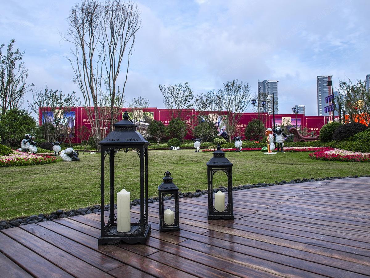 海尔地产世纪公馆实景图-园区内部-青岛搜狐焦点网