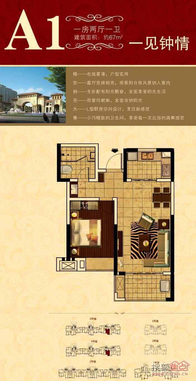 中南世纪城一居室67平a1_中南世纪城户型图-青岛搜狐
