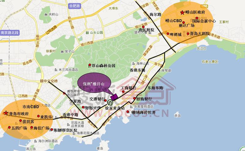 交通位置图-青岛搜狐焦点网