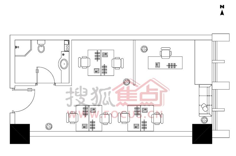 绿城理想之城一居室c_绿城理想之城户型图-青岛搜狐