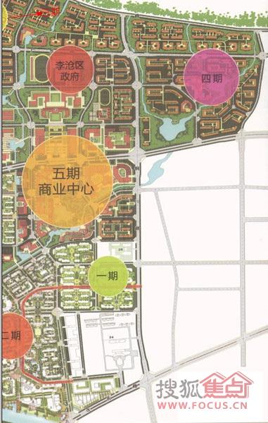 绿城理想之城整体规划图-青岛搜狐焦点网