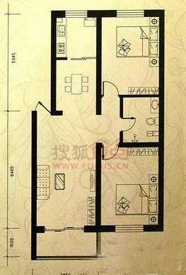 帝景豪庭零居室两室两厅一卫_帝景豪庭户型图-秦皇岛