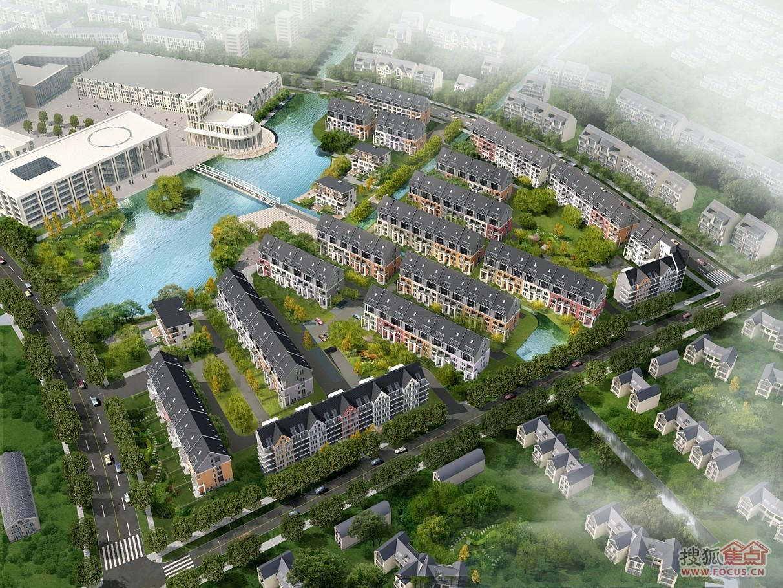 该项目占地约5万平方公里,新镇总长6公里,规划导入人口8万人,是安亭