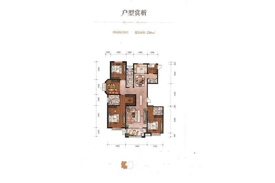 百岛绿城15号楼136平房子构造图