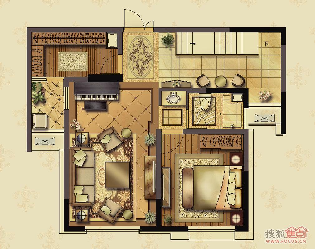 四室两厅房子设计图展示