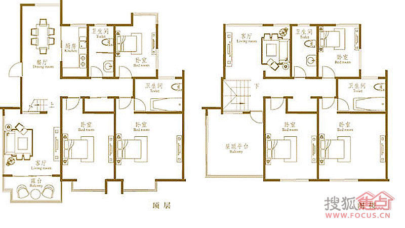 悦海世家六居室c_悦海世家户型图-威海搜狐焦点网