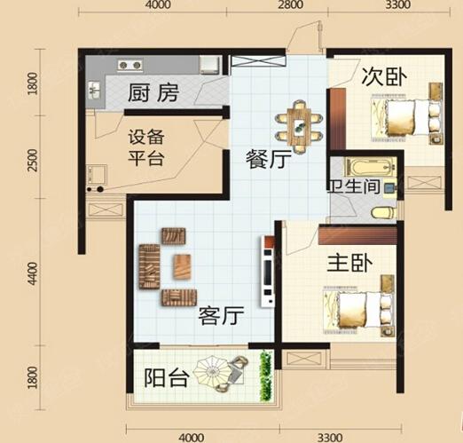 保利圆梦城二居室c4_保利圆梦城户型图-武汉搜狐焦点网