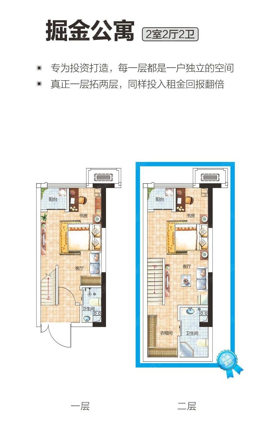 30平米loft公寓装修效果图