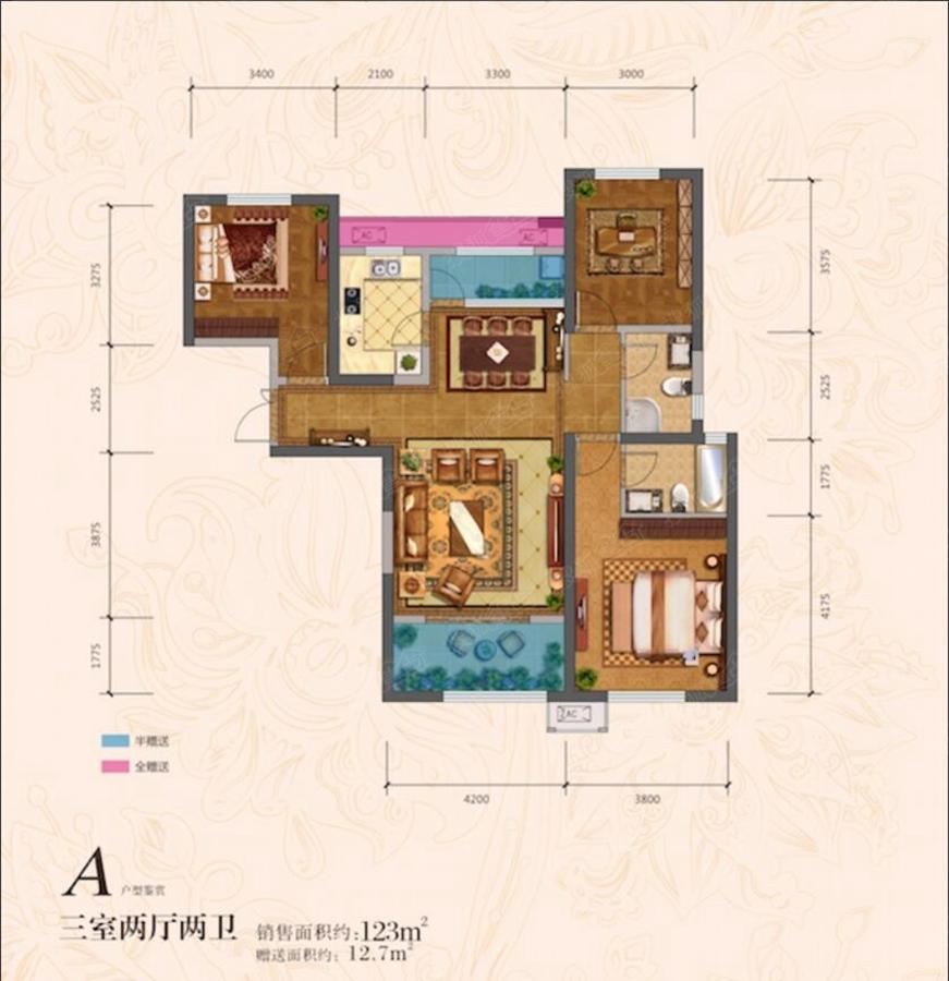 东方米兰国际城三居室a_东方米兰国际城户型图-西安