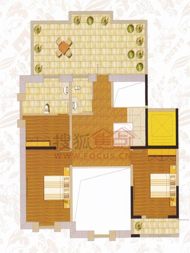 东方名苑二期二居室g型1_东方名苑二期户型图-湘潭