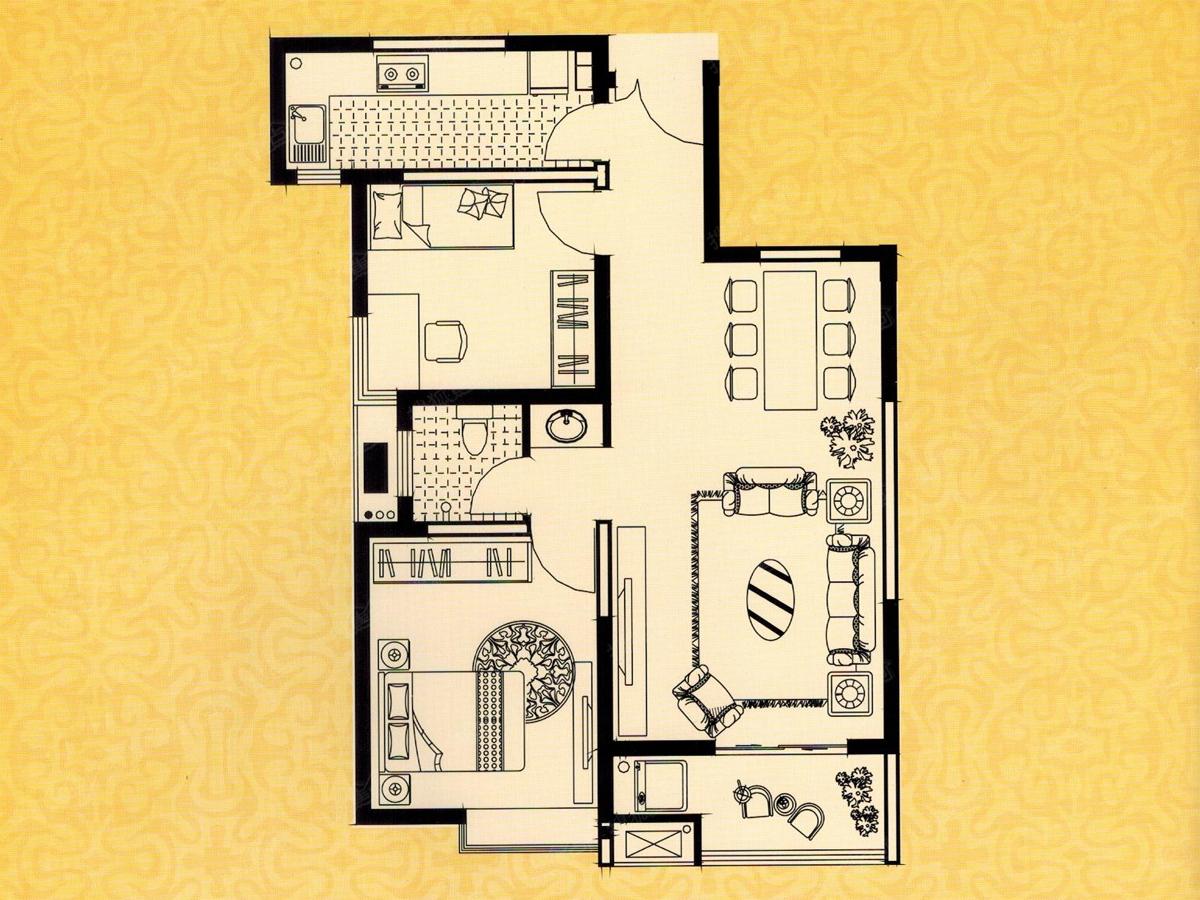45平方花园设计图