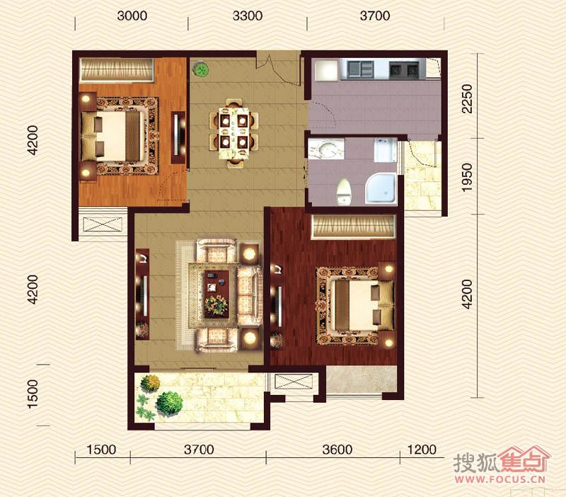 碧水栖庭二居室c2_碧水栖庭户型图-扬州搜狐焦点网