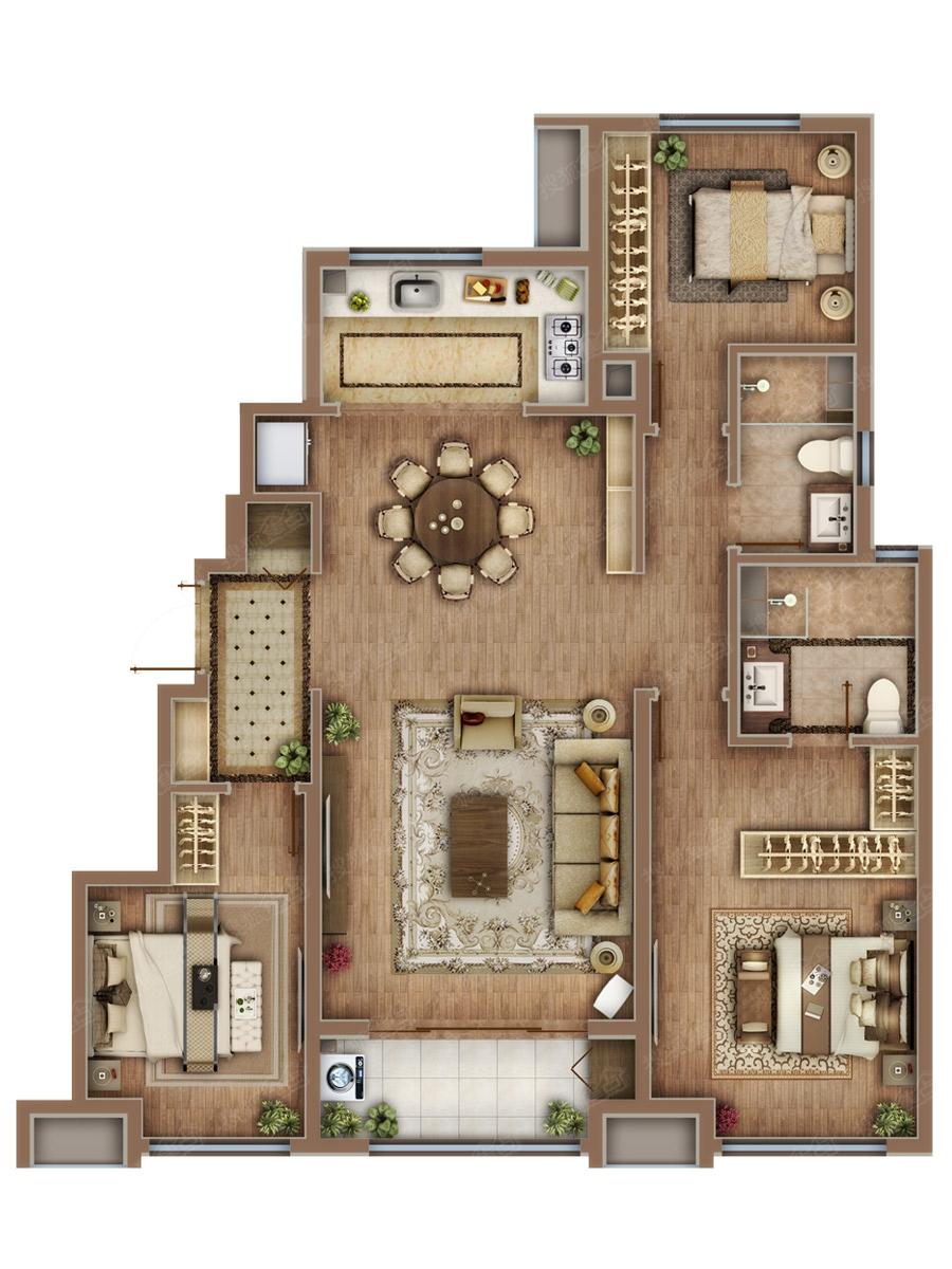 120平米住宅设计图纸展示
